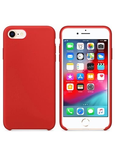 Microsonic Microsonic Apple Iphone 7 Uyumlu Liquid Lansman Silikon Telefon Kılıfı Kırmızı